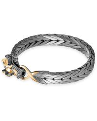 John Hardy Men's Legends Naga Medium Bracelet W/ 18k Gold - Metallic