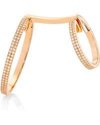 Repossi 18k Rose Gold & Diamond Elliptiques Earring - Metallic