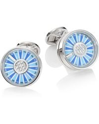 Saks Fifth Avenue - Spinning Wheel Rhodium-plated Cuff Links - Lyst