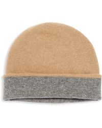 Saks Fifth Avenue - Reversible Cashmere Beanie - Lyst