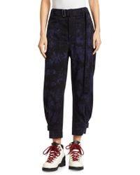 Proenza Schouler Belted Slouchy Cotton Pants - Black