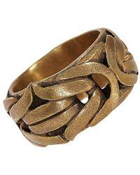 John Varvatos Braid Brass Braided Ring - Multicolor