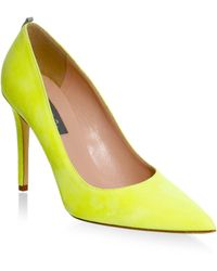 SJP by Sarah Jessica Parker - Fawl Stiletto Suede Court Shoes - Lyst