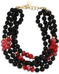 Nest - Horn & Agate Multi-strand Necklace - Lyst