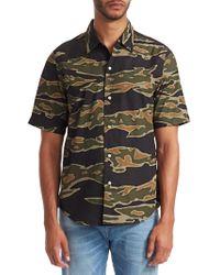 G-Star RAW - Camouflage Short-sleeve Shirt - Lyst