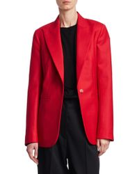 The Row - Tailored Wool Blazer - Lyst