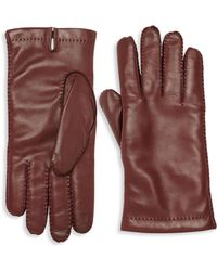 Hickey Freeman - Stitched Leather Gloves - Lyst
