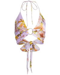 Adriana Iglesias Niara Floral Silk Top - Multicolor