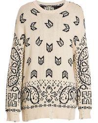 Rhude Bandana-print Cotton & Cashmere Sweater - Multicolor
