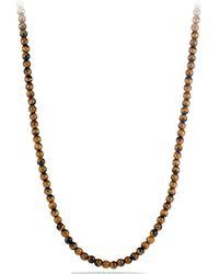 David Yurman - Spiritual Bead Tiger'S Eye Necklace - Lyst