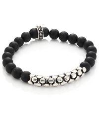 King Baby Studio | Onyx & Sterling Snake Link Bracelet | Lyst