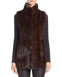 Saks Fifth Avenue Mink Fur Vest - Brown