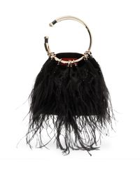 Valentino - Bebop Ostrich Feather Clutch - Lyst
