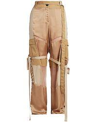 Sacai Patchwork Cargo Pants - Natural