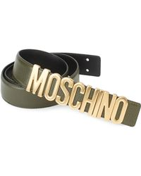 Moschino - Textured Leather Belt - Lyst