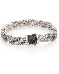 John Hardy - Classic Chain Black Sapphire & Sterling Silver Medium Twisted Bracelet - Lyst