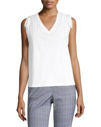 Robert Rodriguez - Ruched Shoulder Tee - Lyst