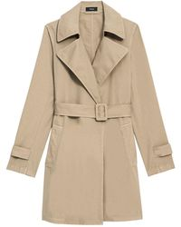 Theory Oaklane Trench Coat - Natural