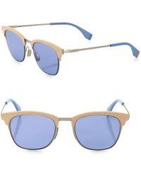 Fendi - 50mm Square Sunglasses - Lyst
