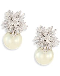 Fallon - Monarch Starburst Faux-pearl Drop Earrings - Lyst