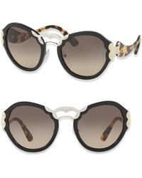 Prada - 54mm Metal-detail Sunglasses - Lyst