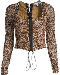 I.AM.GIA Chelsea Leopard Squareneck Corset - Multicolor