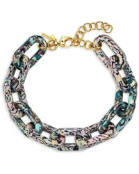 Lele Sadoughi Chain Garland Necklace - Metallic
