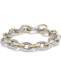 David Yurman - 'oval' Large Link Bracelet With Gold - Lyst