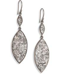 Shana Gulati - Marquis Raw Sliced Diamonds & Sterling Silver Double-drop Earrings - Lyst
