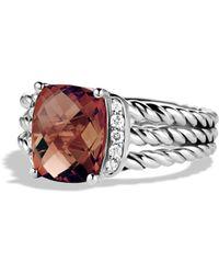David Yurman Petite Wheaton Ring With Diamonds - Multicolour