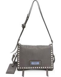Prada Pattina Studded Leather Shoulder Bag - Multicolor
