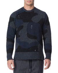 Eleventy - Camouflage Merino Sweater - Lyst