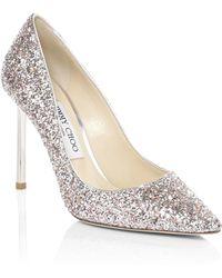 9b89bb34b73a Jimmy Choo - Women s Romy Glitter Point Toe Heels - Viola Mix - Size 41.5 (