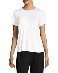 Eileen Fisher System Roundneck T-shirt - White