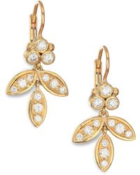 Temple St. Clair - Foglia Diamond & 18k Yellow Gold Earrings - Lyst