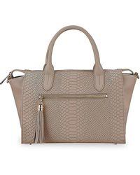 Gigi New York Grace Python-embossed Leather Satchel - Multicolor