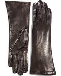 Saks Fifth Avenue Leather Gloves - Brown