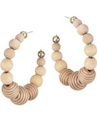 Rosantica - Colonia Bead Hoop Earrings - Lyst