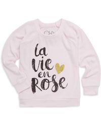 Chaser - Little Girl's & Girl's La Vie En Rose Sweatshirt - Lyst