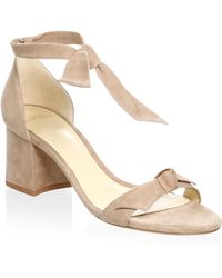Alexandre Birman - Clarita Suede Ankle-tie Sandals - Lyst