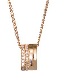 Repossi Antifer Pavé Diamond & 18k Rose Gold Four-row Pendant Necklace - Metallic