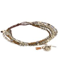 Chan Luu - Pyrite Mix Adjustable Bracelet - Lyst