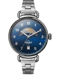 Shinola - The Canfield Day/night Stainless Steel Bracelet Watch - Lyst