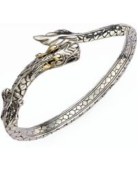 John Hardy - Naga 18k Yellow Gold & Sterling Silver Dragon Slim Kick Cuff Bracelet - Lyst