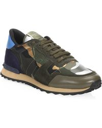 Valentino - Camo Rock Runner Sneakers - Lyst a9d372ee1