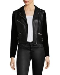 VEDA - Puzzle Velvet & Leather Jacket - Lyst