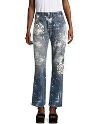 Rialto Jean Project - Vintage 501 Splatter Rose Boyfriend Jeans - Lyst