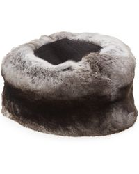 Saks Fifth Avenue - Chinchilla Fur Hat - Lyst