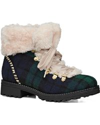 Jack Rogers - Charlie Faux Shearling-lined Lace-up Booties - Lyst