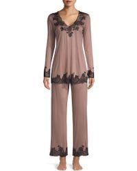 Natori - Josie Charlize Two-piece Pajama Set - Lyst